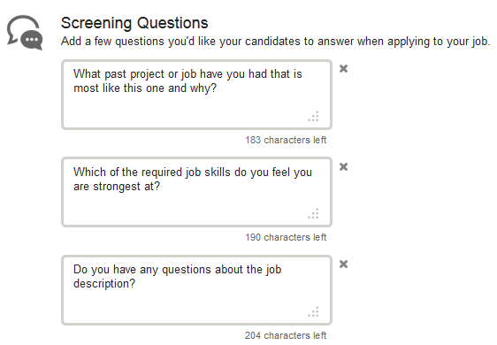 Screening Questions