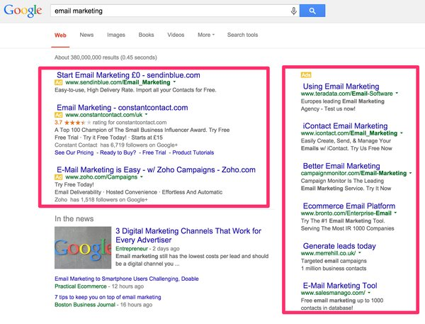 Email Marketing - Google Search
